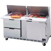"Beverage Air® SPED60HC-24M-4 Food Prep Tables Sped60 Elite Series Mega Top W/ Drawers, 60""W"