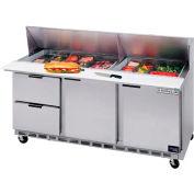"Boisson Air® SPED72HC-08-6 alimentaire Prep Tables Sped72 Elite Series Standard Top W / tiroirs, 72"" W"