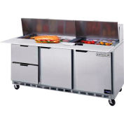 """Food Prep Tables SPED72 Elite Series Cutting Top w/ Drawers, 72""""W - SPED72HC-12C-4"""