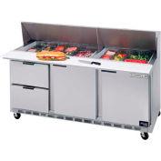 """Préparation de nourriture Tables SPED72 série élite Mega Top w / tiroirs, 72"""" W - SPED72HC-30M-4"""
