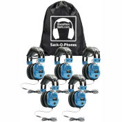 HamiltonBuhl Sack-O-Phones, 5 SCAMV Personal Headsets, Foam Ear Cushions in a Carry Bag