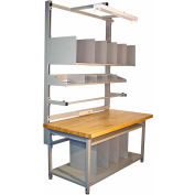 """Global Industrial™ Bench-In-A-Box Packing Workbench, Butcher Block Eased Edge, 72""""W x 30""""D"""