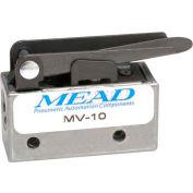 """Bimba-Mead Air Valve MV-10, 3 Port, 2 Pos, mécanique, 1/8"""" NPTF Port, droit de la feuille Actr"""