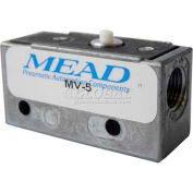 "Bimba-Mead Air Valve MV-5, Port 3, 2 Pos, mécanique, 1/8"" NPTF Port, broche piston actionneur"