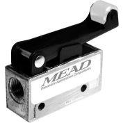 "Bimba-Mead Air Valve MV-90, 3 Port, 2 Pos, mécanique, 1/8"" NPTF Port galet en Nylon feuille Actr"