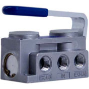 "Bimba-Mead Air Valve N2-HL, 5 Port, 2 Pos, Hand Lever, 1/4"" NPTF, Light 3lb Touch"