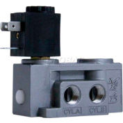 "Bimba-Mead Air Valve N2-SCD-24VDC, 5 Port, 2 Pos, Single, 1/4"" NPTF, 24VDC"