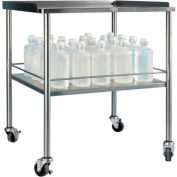 "Blickman 3026SS Howard Instrument Table with Shelf, 30""L x 26""W x 34""H"