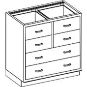 """Blickman DR35HS Stainless Steel Base Cabinet with 6 Drawers, 35""""W x 22""""D x 35-3/4""""H"""