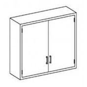 """Blickman B47LS Stainless Steel Wall Cabinet with Double Solid Doors, 2 Shelves, 47""""W x 13""""D x 30""""H"""