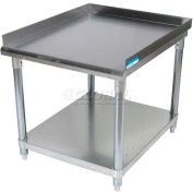 "BK Resources Equipment Stand W/ Undershelf, 18 Ga 430 Stainless Steel Top, 25""W x 30""D"