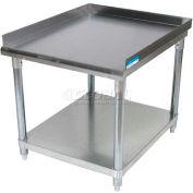 "BK Resources Equipment Stand W/ Undershelf, 18 Ga 430 Stainless Steel Top, 37""W x 30""D"
