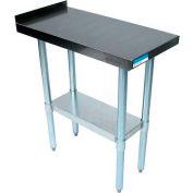 """BK Resources VFTS-1530 18 Ga Filler Table 430 Stainless Steel - 1-1/2"""" Backsplash & Galv Frame 15x30"""
