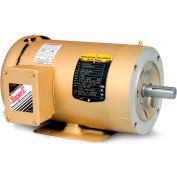 Baldor-Reliance 3-Phase Motor, CEM3610T-5, 3 HP, 3450 RPM, 182TC Frame, C-Face Mount, TEFC,575 Volts