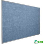 "Balt® Vin-Tak Tackboard with Aluminum Trim 96""W x 48""H, Pacific Blue"