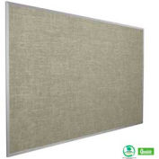 "Balt® Vinyl Add-Cork Tackboard with Aluminum Trim 36""W x 24""H, Platinum"