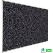 """Balt® Rubber-Tak Tackboard with Aluminum Trim 72""""W x 48""""H Black"""