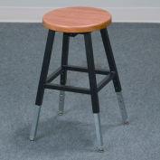 Lab Stool - Wood - Adjustable Height - Black