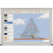 Evolution Projection Surface - gris mat - en aluminium de luxe décoratif - 4 po X 6 pi.