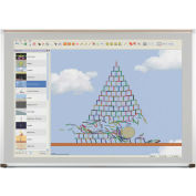 Evolution Projection Surface - Matte Gray - Deluxe Aluminum Trim - 4X6 ft.