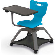 Enroll™ Hierarchy Chair w/o Arms - Includes Tablet Arm, Cup Holder, Hard Caster - Blue - Pkg Qty 6