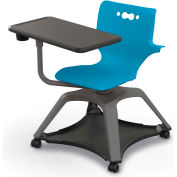 Enroll™ Hierarchy Chair w/ Arms - Includes Tablet Arm, Cup Holder, Soft Caster - Blue - Pkg Qty 6