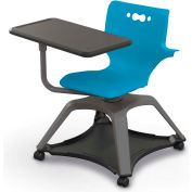 Enroll™ Hierarchy Chair w/ Arms - Includes Tablet Arm, Hard Caster - Blue - Pkg Qty 6