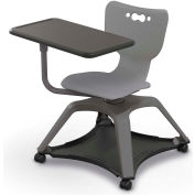 Enroll™ Hierarchy Chair w/o Arms - Includes Tablet Arm, Hard Caster - Gray - Pkg Qty 6