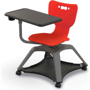 Enroll™ Hierarchy Chair w/o Arms - Includes Tablet Arm, Cup Holder, Hard Caster - Red - Pkg Qty 6