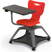 Enroll™ Hierarchy Chair w/o Arms - Includes Tablet Arm, Cup Holder, Soft Caster - Red - Pkg Qty 6