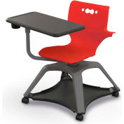 Enroll™ Hierarchy Chair w/ Arms - Includes Tablet Arm, Cup Holder, Soft Caster - Red - Pkg Qty 6