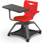 Enroll™ Hierarchy Chair w/ Arms - Includes Tablet Arm, Hard Caster - Red - Pkg Qty 6