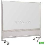 "Balt® 96""W x 72""H D.O.C. Partition - Porcelain Markerboard/Decorative Laminate Board"