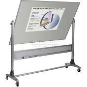 """Balt® platine réversible 72 """"L x 48» H Projection Plus / porcelaine en acier Markerboard"""