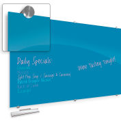 """Balt® Visionary Hierarchy Glass Magnetic Board - Blue - 47-1/4""""H X 70-7/8""""W"""