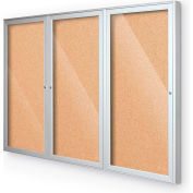 """Balt® intérieur clos babillard - porte 3 - Cork - argent aluminium Frame - W 72"""" x 48"""" H"""
