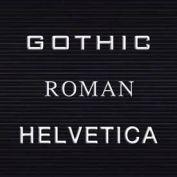 "Balt® Gothic Letter Sets - 1-1/2""H"