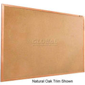 "Balt® Valu-Tak Tackboard with Mahogany Wood Trim 36""W x 24""H"
