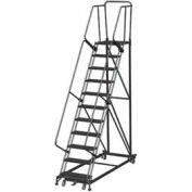 11 Etape Heavy Duty Steel Rolling sécurité échelle, Heavy Duty dentelée caillebotis w / Cal OSHA main courante