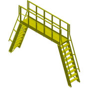 "Bluff Modular Crossover With 7-Tread Ladders, COPGS24-72-7, 90""L x 24""W x 72""H Clearance"