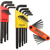 Bondhus 14130 Hex Key Triple Pack SAE, Metric W/ FREE Fold-Up Set