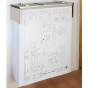 "Brookside Design Blueprint Drop Lift Wall Rack Bundle W/Dozen 18"" Clamps"