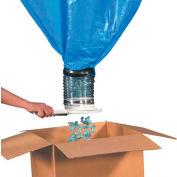"""Emballage Peanut Loose Fill Dispenser pour sac de 60 pieds³, 40 «L x 40""""L x 99""""H, Gris"""