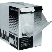 """Bubble Roll with Dispenser Pack 24"""" x 100' x 5/16"""", Clear, 1 Roll"""
