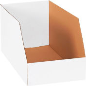 """Global Industrial™ Jumbo Open Top Corrugated Bin Boxes, 12""""Wx18""""Dx10""""H, White - Pkg Qty 50"""