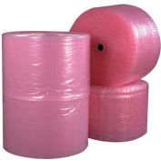 "Anti-Static Bubble Roll 12"" x 250' x 1/2"", Perforated, Pink, 4/PACK"