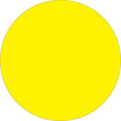 """1"""" Circle Removable Labels Fluorescent Yellow 500 Per Roll"""