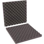 "Charcoal Convoluted Foam Sets 16"" x 16"" x 2"" 12 Pack"