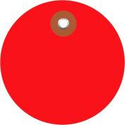 "Plastic Circle Tags 2"" Diameter Red - 100 Pack"