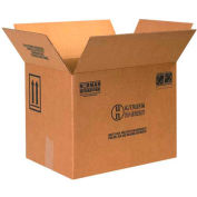 """Haz Mat Boxes For Four 1 Gal. F Style Paint Cans, 16-3/8""""L x 11-3/8""""W x 12-3/8""""H, Kraft, 10/Pack"""
